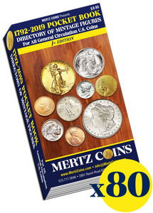 (80) Mertz Coins 1792-2019 Pocket Book Directory WHOLESALE