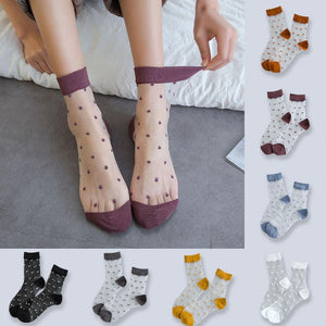1 Pair 13 Colors Summer Women Sock Elastic Lace Socks