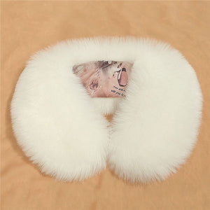 New Faux Fur Collar Poncho Scarf for Women