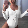 Bodycon Bodysuit Women Long Sleeve