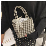 Handmade Pearl Bag Women Luxury Handbags
