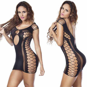Women Sexy Hollow Out Jumpsuits Fashion Black Bodysuits