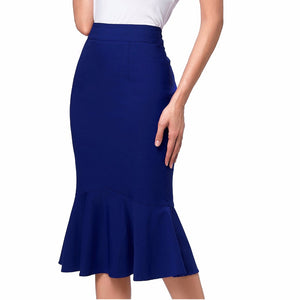 Wine Black High Waist Skirts Womens Slim Pencil Mermaid Skirt