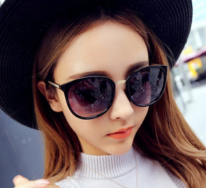 CURTAIN Round Fashion Glasses Oversized Sunglasses Women
