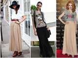 Designer Sexy Style Skirt  Women Sexy Chiffon Candy Color Long Skirt High Quality  Nice designs Hot selling
