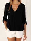 Slim Sexy Long Sleeve Chiffon Blouse