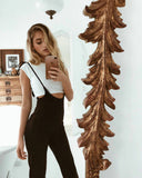 Multi Colors Slim Bandage Women's Jumpsuits High Waist Sexy
