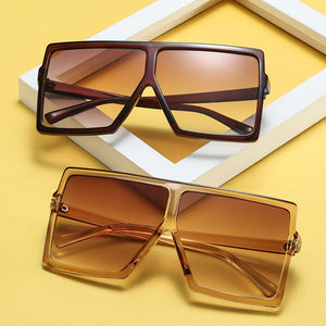 Big Frame Gradient Shades Oversized Sunglasses