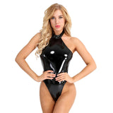 Women Wetlook Sexy Club Catsuit Swimsuit