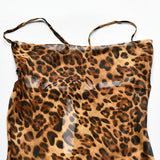 Sexy V Neck Leopard Party Dress