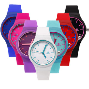 Fashion Women Watches Jelly Silicone Luxury Brand Watch Women