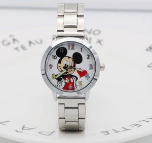 2018 Mickey mouse Watch ladies Stainless Steel Women Watches