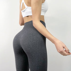 Women's Fashion Seamless Leggings Ladies Athleisure Sportswear Sweat Pants Trousers High Waist