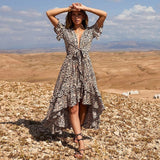 Print Womens Dresses Sexy Long Dress Bandage Party