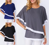 Blouse Shirts Casual Sexy Batwing O Neck