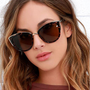 Retro Cat Eye Sunglasses Women Brand Designer Mirror