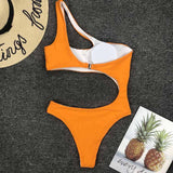 Swimwear WomenNew One Piece Solid Swimsuit