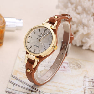 2019 New Arrival Thin Leather Casual Luxury Woman Watch