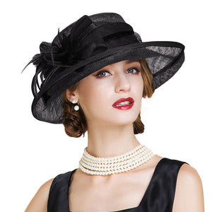 Black And White Ladies Church Sinamay Hats
