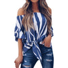 Women Striped Off Shoulder Blouse