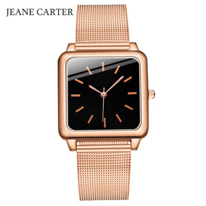 Women Watches Top Brand Luxury Rose Gold Full Steel Mesh