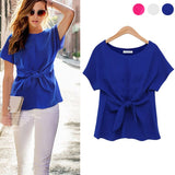 Fashion Ladies Short Sleeve Sexy Blouse