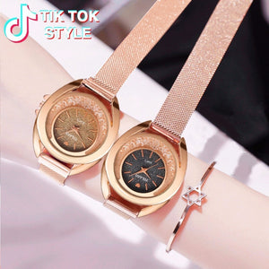Hot Selling Women Magnet Buckle Rhinestone Watch