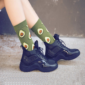 Lovely Food Socks Avocado Omelette
