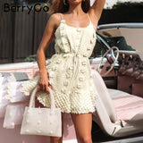 Elegant spaghetti strap short dresses party