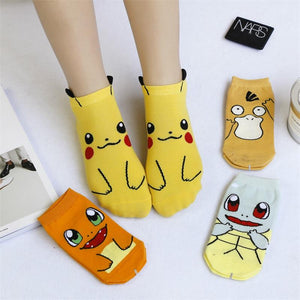 Women Cartoon Character Cotton Socks