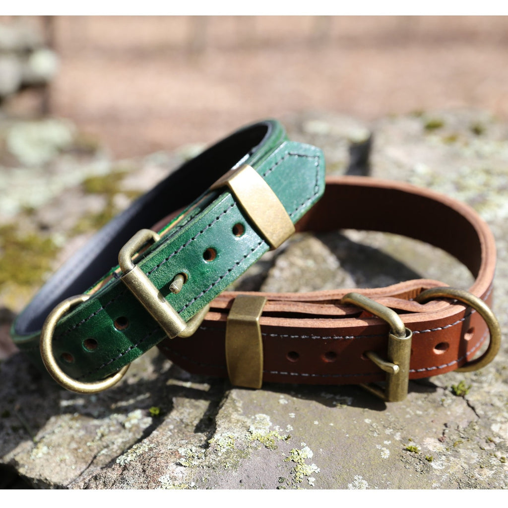 Top Grain Leather Dog Collars