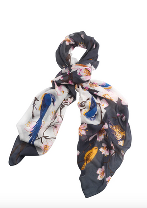 Blossom and Birds Scarf