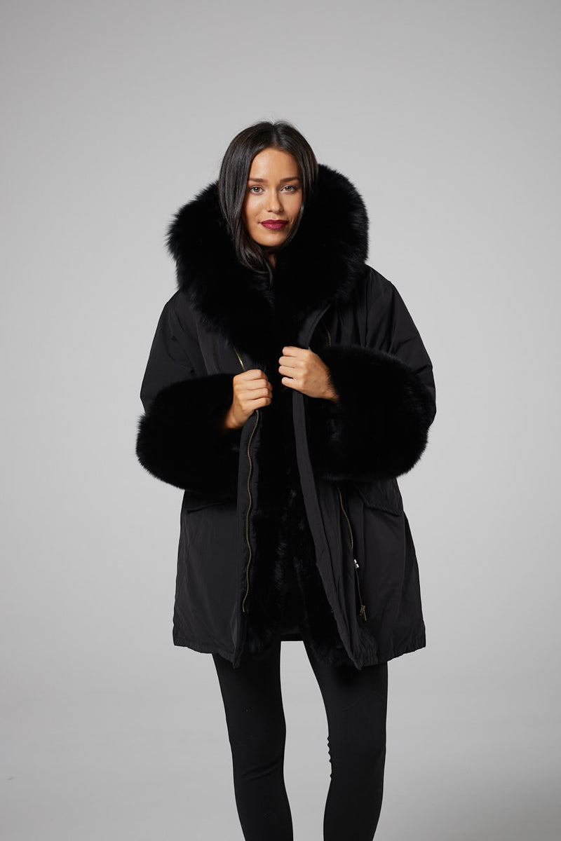 Giselle Luxury Hooded Parka