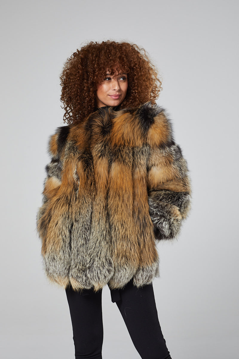 Coco Crystal Fur Coat