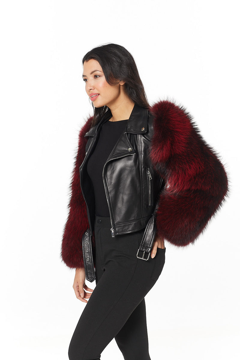 Chenille Leather Jacket