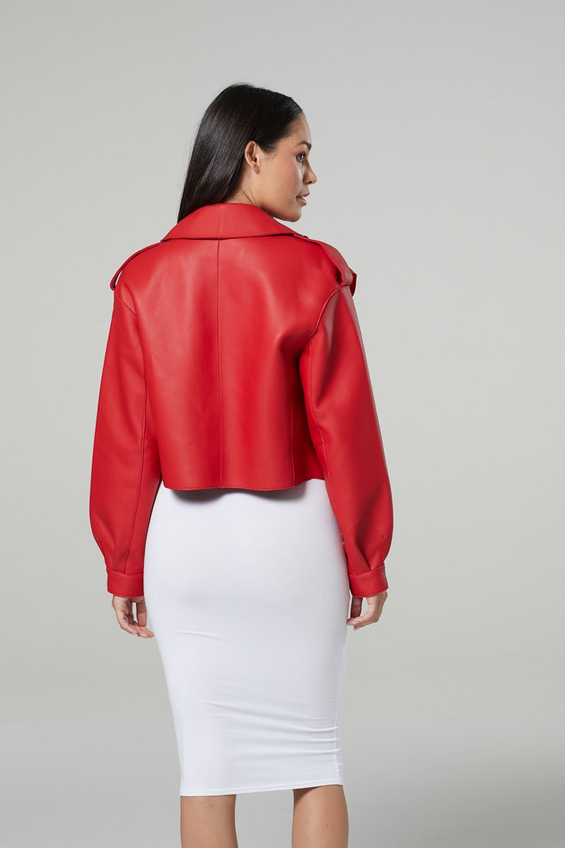 Lois Oversized Cropped Leather Jacket *More variations