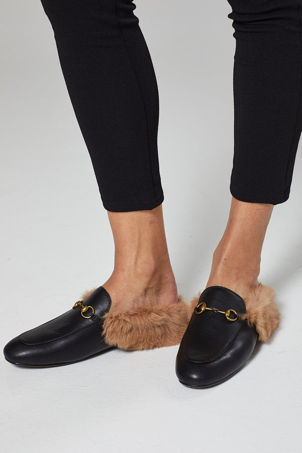 Fur Lined Mules