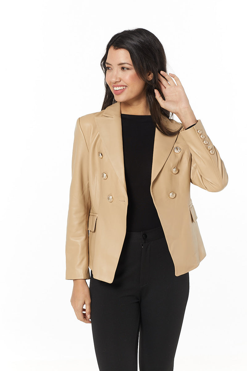 Beau Leather Blazer