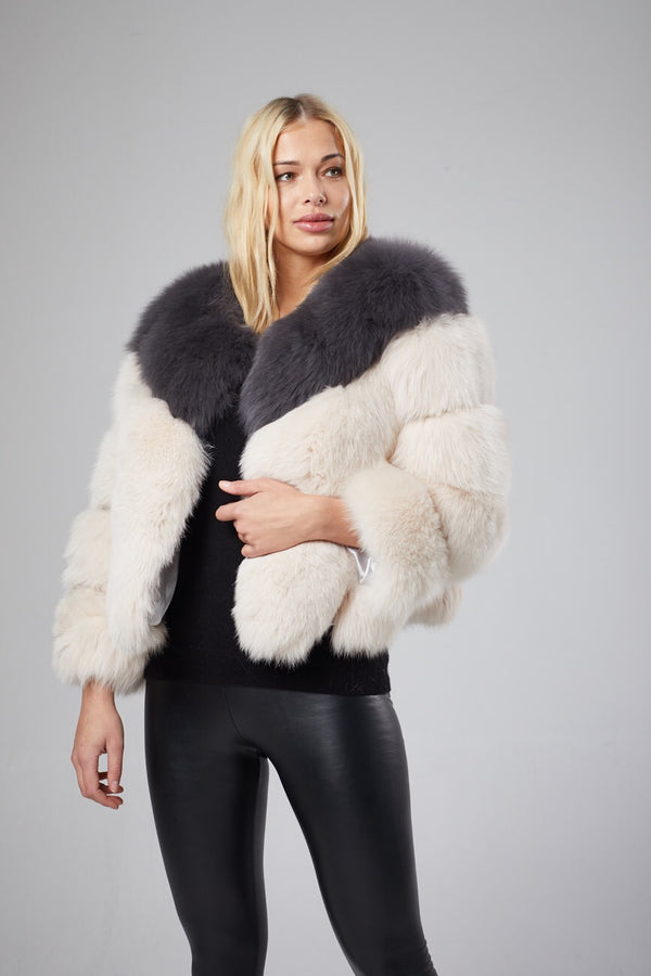 Bella Two Tone Fox Fur Coat