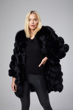 Real fur coat