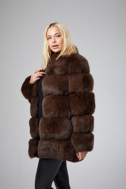 Renee Bubble Fox Fur Coat