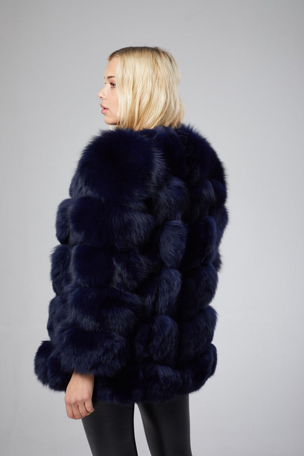 Camille Section Fox Fur Coat