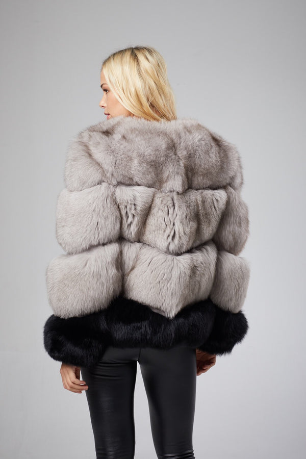 Monae Two Tone Fox Fur Coat