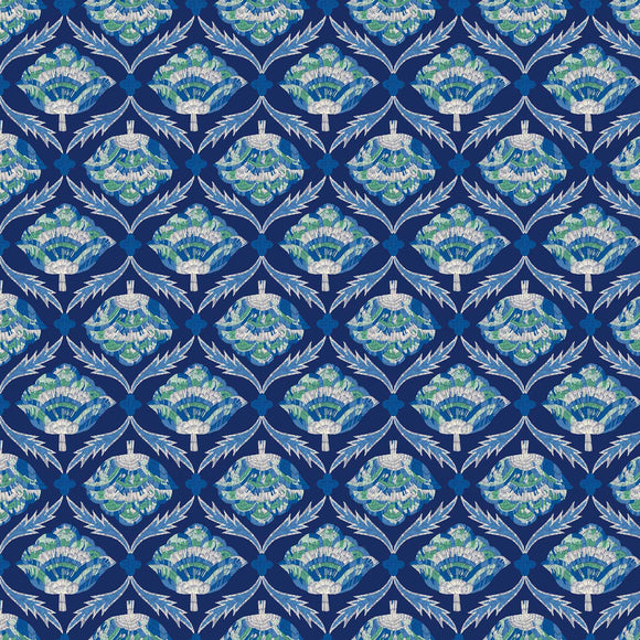 Glasshouse Embroider Bloom Navy