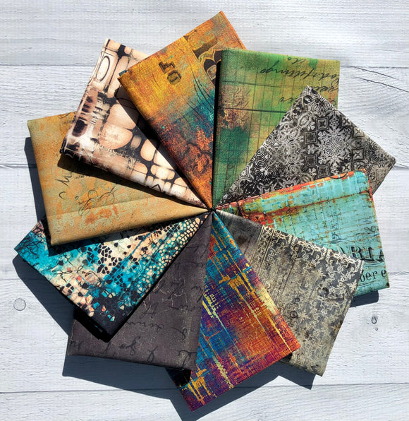 Abandoned Eclectic Elements Fat Quarter Bundle by Tim Holtz
