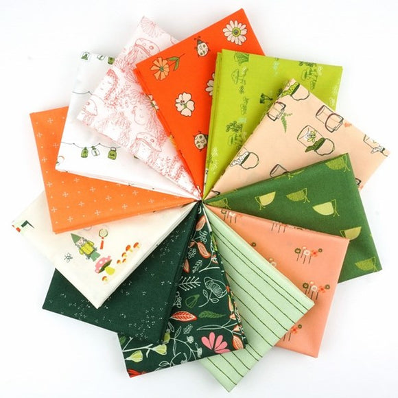 Dew and Moss Fat Quarter Bundle by Alexandra Bordallo