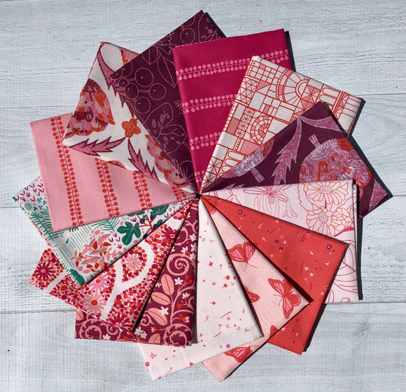 Glasshouse-Red Fat Quarter Bundle by Emily Taylor