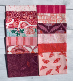 Glasshouse-Red Half Yard Bundle by Emily Taylor