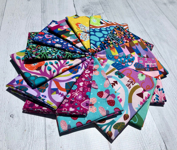 Homeward Fat Quarter Bundle by Monika Forsberg