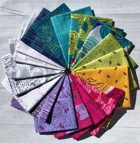 Norma Rose Fat Quarter Bundle by Natalie Barnes